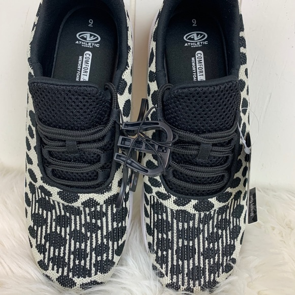 Athletic Works Sneakers Leopard Print Shoes NWT
